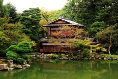 Teahouse at Peace (dennoit) Tags: park building japan architecture garden japanesegarden pond kyoto palace teahouse kyotoimperialpalace shusuitei