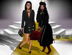 Noir Feroce (FemmeJolieSL) Tags: life new old red abstra