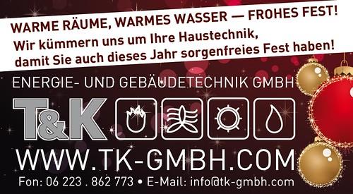 T&K Weihnachtsanzeige 2014 RNZ 91 x 50 mm