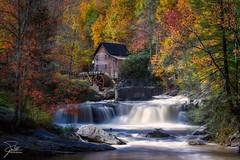 Glade Creek Grist Mill (Frank Kehren) Tags: autumn fall mill canon westvirginia f11 70200 gladecreek babcockstatepark ef70200mmf28lisusm gladecreekgristmill landisburg nd10 leebigstopper canoneos1dx