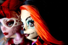 The Skeleton and the Phantom (JodieWould) Tags: monster skeleton photography opera doll pretty dolls phantom phantomoftheopera sugarskull operetta dollphotography scaris monsterhigh monsterhighdolls dollphotograhy skelita skelitacalaveras