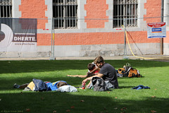 Relaxing (Rick & Bart) Tags: city people men boys beer citylife strangers streetphotography guys males bergen mons jupiler everydaypeople youngmen rickbart rickvink