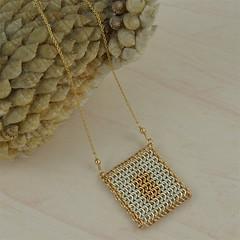 Mesh Pendant (ME-N001) (Carol Raeburn) Tags: silver necklace mesh sterling elegant pendant chainmaille goldfilled europen 4in1 argentium