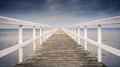 Malm Pier (Mabry Campbell (2nd Account)) Tags: wood sea seascape canon photography eos pier photo skne spring europe photographer image sweden perspective may photograph f22 100 sverige 40mm scandinavia campbell malm strait malmo saltwater springtime 2012 fineartphotography resund mabry architecturalphotography skane colorimage commercialphotography southernsweden horizonline ef1740mmf4lusm editorialphotography southsweden woodenpier architecturephotography 300sec editorialphotographer commercialphotographer fineartphotographer canoneos5dmarkii architecturalphotographer houstonphotographer architecturephotographer may192012 mabrycampbell mabrycampbellcom tipofsweden 201205190004