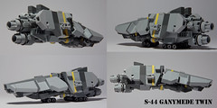 S-44 Ganymede Twin (Blockaderunner) Tags: war ship republic lego space military craft scout scifi ganymede moc microspace