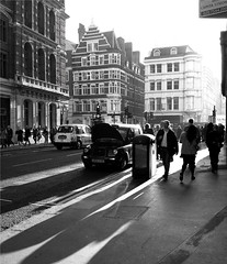 Liverpool street station in the morning. (Andrea Kennard) Tags: street people white black building station metal liverpool paper bars five crowd challenge facebook