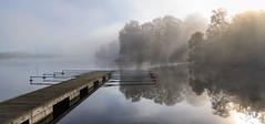 Djurgården, October 1, 2014 (Ulf Bodin) Tags: autumn panorama mist fog sweden stockholm jetty sverige höst djurgården brygga dimma djurgårdsbrunnsviken stockholmslän