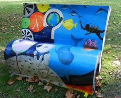 The Hitchhiker's Guide to the Galaxy Bookbench - Deven Bhurke (graham19492000) Tags: london thehitchhikersguidetothegalaxy gordonsquare bookbench devenbhurke booksabouttown
