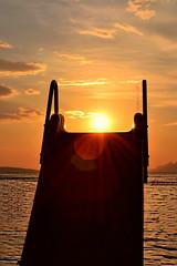 going down... (black one7) Tags: sunset sea summer vacation sky sun nikon enjoy d3100 nikond3100 blackone7