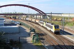 20140926 B-Cargo 1332-1323 - Hollerich (dloc567) Tags: luxembourg alstom luxemburg nmbs hollerich ltzebuerg sncb bcargo reeks13 hollerech