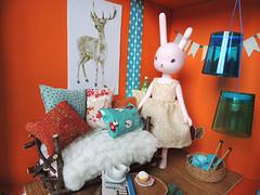DIORAMA Case Lovely Fox. (- Carrot - Lidia -) Tags: miniature escenario case fox lovely diorama middie latiyellow autumscene pukifee miniatureroompixie miniatuasalita