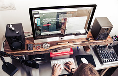 My desk (Cameron Moll) Tags: wood workspace