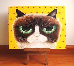 Grumpy cat (-ROCHIO-) Tags: cute art colors cat painting arte gato neko grumpy pintura designers rochio