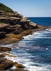 Bondi-Coogee Walk (dlerps) Tags: ocean sea cliff water bondi rocks surf waves sony sydney sigma australia shore newsouthwales wellen brandung sigmaapo70200mmf28exdghsm lerps sonyalphadslr bondicoogeewalk sonyalphaa77v daniellerps