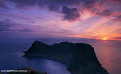 My Anchestors Home (June Grnseth EFIAP PPSA) Tags: ocean sunset panorama clouds colorful lofoten vry mostad