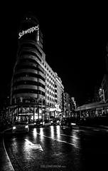 Madrid Noir (Guille Molina) Tags: madrid street cars night lights spain noir via gran