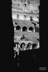 Monument (Chaoqi Xu) Tags: city travel bw italy white black rome roma canon photography eos photo italia foto monumento coliseum fotografia    bianco nero viaggio    xu citt colosseo   beni 2014       culturali 600d chaoqi