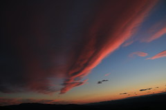 the pink comes down like an arrow (bbosica20) Tags: pink sunset sky nature beautiful clouds canon landscape virginia horizon shenandoah 2014 shenandoahnp canon70d