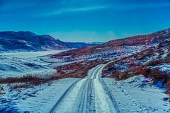 The Polar Ride Through Greenland (Baron Reznik) Tags: road sky mountain snow ice nature horizontal landscape day arctic transportation greenland mtn polar  idyllic    colorimage    kalaallitnunaat polarregion   canon24105mmf4lis  frigidzone  qeqqata  qeqqatakommunia   qeqqatamunicipality
