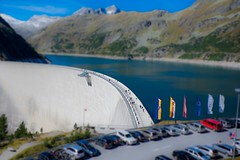 small people on a giant dam (blatnik_michael) Tags: mountain fuji dam malta kärnten carinthia fujinon tiltshift staudamm kölnbreinsperre xc1650