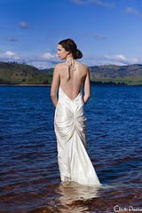 Hume Dream (Claudia Paridae) Tags: sun lake cold water girl beauty fashion high saturated model glamour dress dam daughter dream australia class hume backless