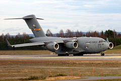 US Air Force AMC 00215 Charleston, OSL ENGM Gardermoen (Inger Bjørndal Foss) Tags: norway c17 amc osl gardermoen usairforce 00215 engm