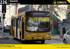226 | Mapocho - Nonato Coo (Mr. Mobitec) Tags: chile santiago bus buses mercedesbenz publictransport transporte santiagodechile stp 226 transantiago transportepúblico santiagocentro caiomondego subuschile stpsantiago o500u mondegoh serviciosdeapoyo