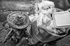 Trash Day is Two Days Away (byroN Jos sun) Tags: poverty california blackandwhite blanco de la calle los angeles negro vida pobreza