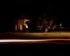 Ghost Lights - Halloween Night on Film (Baisao) Tags: nightphotography film halloween night mediumformat taylor 6x7 residential provia100f nightshooting nocturn wnw mamiya7ii colorreversal 465mm