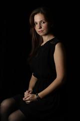 IMG_0368 (Pavel Shalaginov) Tags: portrait black girl key dress low 85mm lowkey blackdress 430ex 550d canonef85mmf18usm 430exii canoneos550d