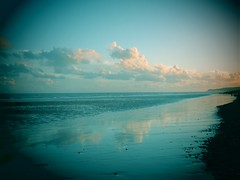 #shoreline (Scopello4) Tags: blue sky clouds reflections dusk rye reflets pettlevel