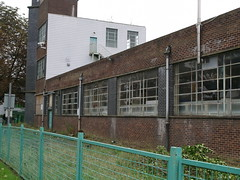 Deco Shredded Wheat 07 (FrMark) Tags: city uk england building brick architecture design town office industrial factory britain wheat cereal style moderne gb artdeco deco derelict shredded hertfordshire herts gardencity welwyn nabisco welgar