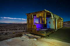 The Honeymoon Suite (dejavue.us) Tags: california longexposure nightphotography lightpainting abandoned nikon desert fullmoon prison trailer nikkor mojavedesert boron d800 vle