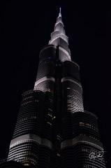 The Giant of the Skyscrapers... (IshtiaQ Ahmed revival to Photography) Tags: pakistan night skyscraper mall october dubai shot oct uae musical khalifa fountains burj 2014 gitex khaleefa ishtiaqahmed dubaidowntown