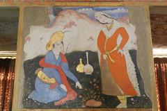 Palacio Chehel Sotun pinturas en murales 20 (Rafael Gomez - http://micamara.es) Tags: en iran murals persia palace  murales  isfahan pinturas paints palacio irn columnas frescos    cuarenta chehel sotoon    sutun sotun chihil  isfahn sotn