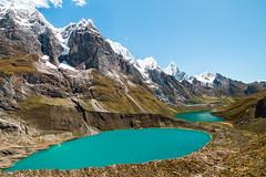 Cordillera Huayhuash, Peru (Xuberant Noodle) Tags: mountain lake snow ice peru trekking trek landscape hiking peak lagoon hike glacier valley range glacial