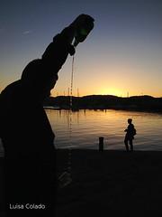 (Luisa Colado) Tags: sunset sea sun man sol silhouette backlight contraluz atardecer mar silueta sidra hombre escanciar culin