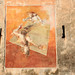 Sfida; 1985. Affresco, cm 300x220.<br /> Maglione, Via Lago.