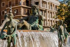 Neptune Fountain - Plaza De La Virgin - Valencia Spain (Sony RX100M3) (markdbaynham) Tags: street city urban valencia spain sony espana espanol metropolis es dsc compact ciutat cuidad rx100m3 rx100mkiii rx100mk3 rx100mark3