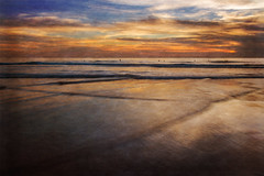 Painted Sea (Darren LoPrinzi) Tags: ocean california ca blue venice sunset sea sky orange painterly texture beach water beautiful clouds canon coast peace pacific peaceful pacificocean simplicity serenity venicebeach serene simple westcoast minima canoneos7d canon7d