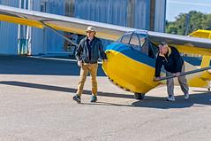Gp. Capt. Willy Hacket, RAF  & Bob Dierker -  VSA 5 (massey_aero) Tags: vintagesailplaneassoc sailplane glider vsarally masseyaerodrome masseyairmuseum schweizer222glider