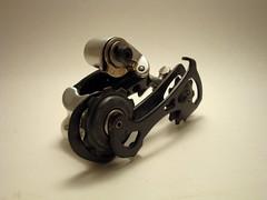 Record Titanium rear derailleur (vintagecyclery) Tags: campagnolo record titanium