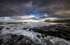 A light in the dark (lawrencecornell25) Tags: landscape castles bamburgh bamburghcastle northumberland northeastengland england coast waterscape scenery outdoors nikond5 cloudsstormssunsetssunrises
