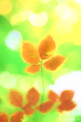 Stand (Maurizio Scotsman De Vita) Tags: leaves foglie macro astrazioni abstractions abstract plantsflowers italia mixedmedia bokeh astratto impressionistic impressionistico nicebackground sfondosfumato
