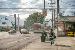 Untitled (ctklink) Tags: streetphotography dodgers losangeles silverlake easthollywood hollywood la california ca sony a7 a7ii zeiss carlzeiss nikcollection bbq smoke bus cars clouds sky
