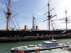 The old and the new Portsmoth Dockyards (Nick.Bayes) Tags: the old new portsmoth dockyards spinnakertower hmswarrior