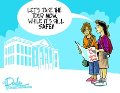 1016 white house tour cartoon (DSL art and photos) Tags: editorialcartoon donlee donaldtrump clinton election president 2016 whitehouse groping women billclinton
