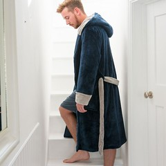 Bedroom Athletics Connery - Flannel Fleece Dressing Gown - Navy / Grey (Bedroom Athletics) Tags: connery flannel fleece dressing gown navy grey bedroomathletics bedroom athletics bed room loungewear clothing womens nightwear slippers slipper style look fashion fashionable stylish chilly shoe furry comfortable comfort lush happy warm cosy buy shopping need want love lovely warmth