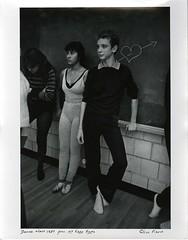 Dance Class, 1983 (Cambridge Room at the Cambridge Public Library) Tags: cambridgemass cambridge massachusetts bw blackandwhite olivepierce pierceolive cambridgerindgeandlatinschool crls students dancestudents