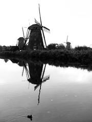 Kinderdijk windmill black&white (matteotarenghi) Tags: tumblr matteo tarenghi windmill kinderdijk mulini vento olanda netherlands